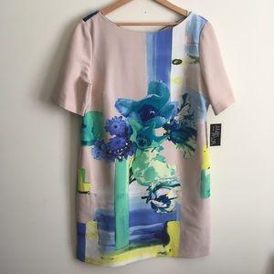 Julian Taylor | Beige and Blue Floral Dress 16